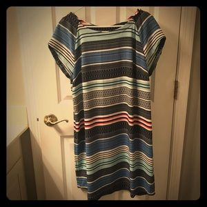 Merona Red & Blue Striped Shift Dress